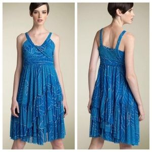 Diane von Furstenberg Silk Midi Dress with frills